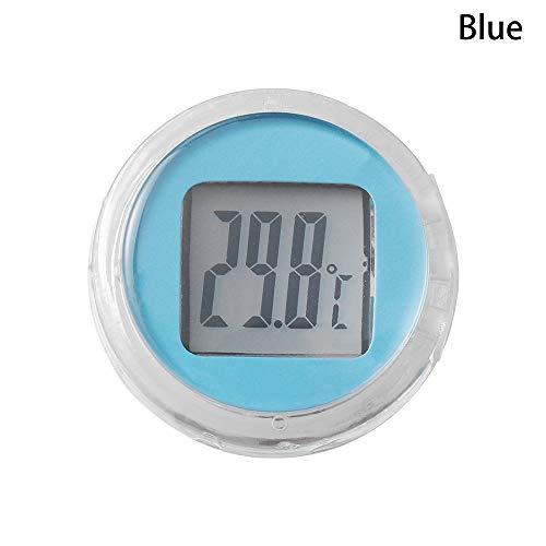 Neu Mini! Interieur Typ einfügen Thermometer für Motorrad Digitale Instrumente Temperatur Meter(Blue)