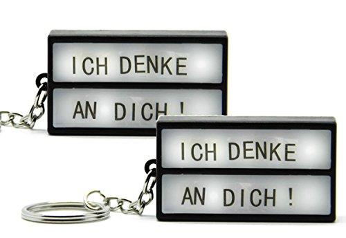 Bada Bing 2er Set Schlüsselanhänger DIY LED Kino Leuchtschild Lightbox gestaltbare Lichtbox Buchstaben 27