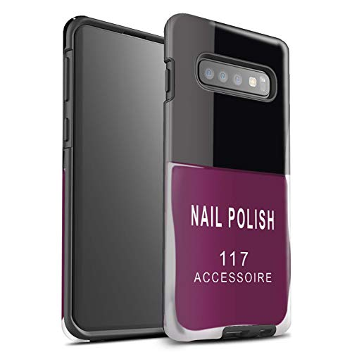 Stuff4® glanzende harde schokbestendige hoes/case voor Samsung Galaxy S10 / roze patroon/nagellak/make-up collectie