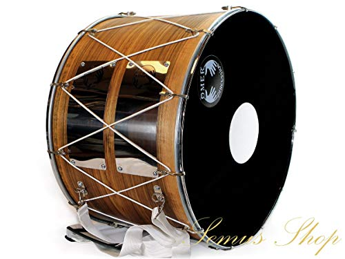 Davul Orientalische Profi 53 cm Dhol Schlagzeug NUßBAUM 100% Handmade (27-30)