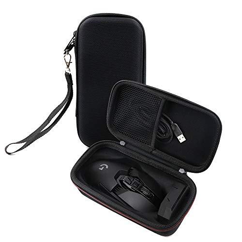 Linghuang - Bolsa de almacenamiento para ratón Logitech G502, caja de protección para ratón inalámbrica, bolsa de EVA antigolpes, bolsa portátil, 19 x 10 x 7,5 cm