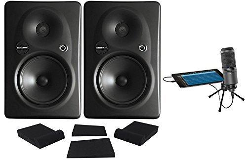 For Sale! (2) Mackie HR624 MKII HR-624 MK2 Powered THX Studio Monitors + Studio Mic + Pads