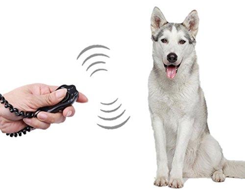 ペット クリッカー トレーニング 犬 猫 しつけ 訓練用品 かわいい 肉球型 リストストラップ付 ブラック