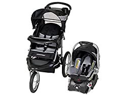 A jogging stroller and car seat combo
