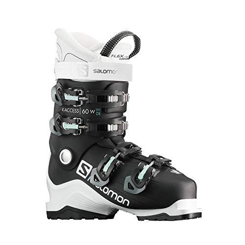 Salomon X Access 60 Wide Ski Boots Womens Sz 8/8.5 (25/25.5) Black/White