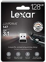 128GB USBメモリ USB3.1 Gen1 Lexar レキサー JumpDrive S47 超小型 超高速転送 R:250MB/s ブラック 海外リテール LJDS47-128ABBK