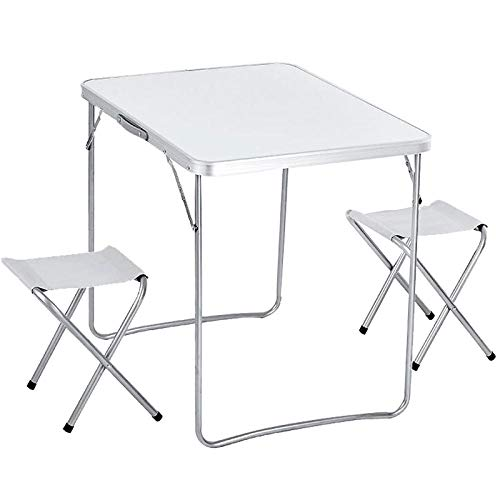 DX Klapptisch Outdoor tragbare Picknicktisch und Stuhl Kombination Werbetisch Aluminium Tisch und Stuhl fünfteiliges Set von 3 Sätzen