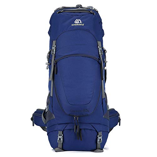 YLiansong-home Waterproof Travel Backpack Hiking Backpack 80L Waterproof Travel Backpack Trekking Rucksack Mountaineering Backpack For Outdoor Sport External Frame Camping (Color : Blue, Size : 80L)