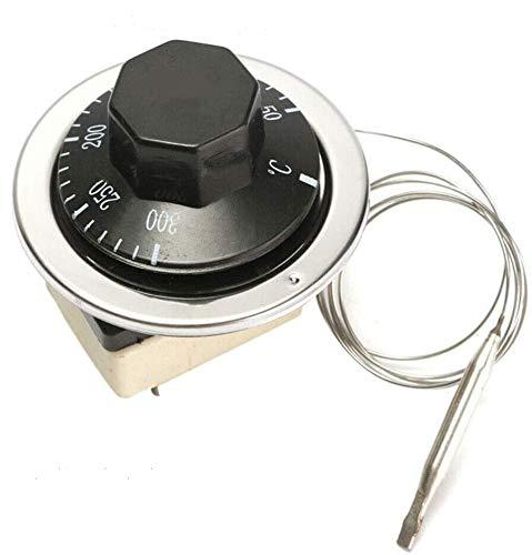 Dial - Termostato de temperatura con interruptor de control para horno eléctrico (250 V, 16 A, 50 °C, 300 °C)
