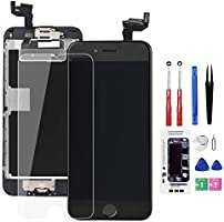 for iPhone 6S Screen Replacement Black,Drscreen LCD Touch Digitizer Complete Display for A1633, A1688, A1700,with Home...