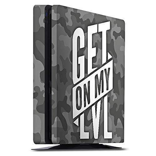 DeinDesign Skin kompatibel mit Sony Playstation 4 PS4 Slim Folie Sticker Level Montanablack Camouflage