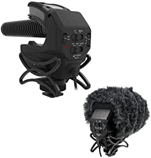 Azden SMX-30 Stereo/Mono Switchable Video Microphone - With Azden SWS-30 Furry Windshield Cover