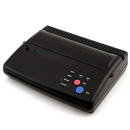Impresora láser multifunción A4, 5 W, tatuaje, fotocopiadora térmica, impresora de tatuaje, impresora de transferencia térmica (negro)