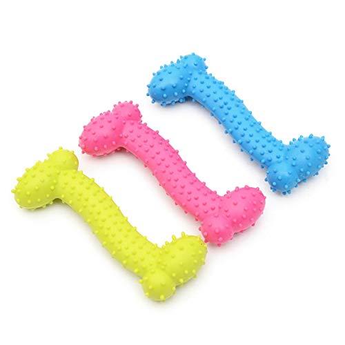 Resistente al desgaste Juguetes for perros, en forma de hueso de goma, juguete del perro, mordedura, Molar, la limpieza del diente, el enriquecimiento Juguetes for los perros for cachorros pequeños Ou