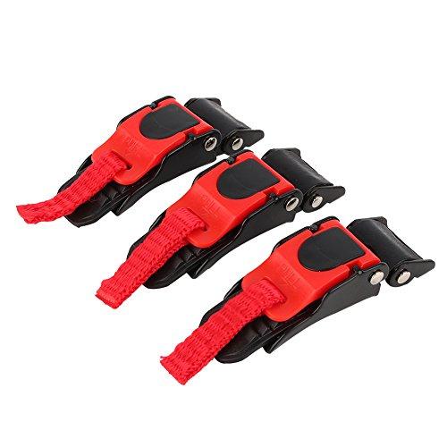 Qiilu Helmschnalle, 3X Motorradhelm Speed Clip Schnellverschluss Kinnriemen Knopf Zugschnalle Fahrrad
