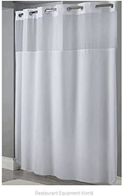 Hookless Mystery 300D 71 X 77 Fabric Shower Curtain HBH49MYS01X White