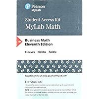 MyLab Math with Pearson eText - Standalone Access Card - for Business Math (11th Edition)【洋書】 [並行輸入品]
