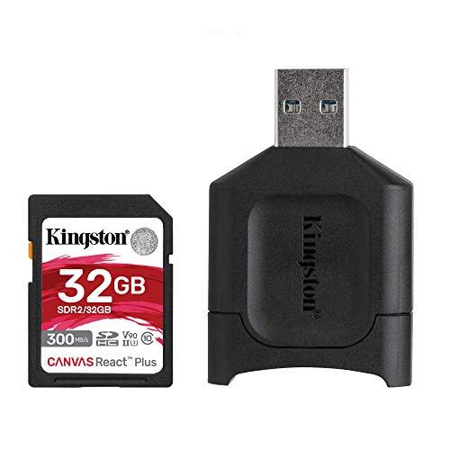 Kingston MLPR2/32GB SD Karten+ Kartenlesegeräte( 32GB SDHC React Plus SDR2 + MLP Kartenlesegerät für SD )