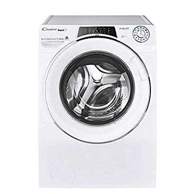 Candy ROW14956DWHC Freestanding Rapido Washer Dryer, WiFi Connected, 9kg Wash/5kg Dry Load, 1400rpm Spin, White