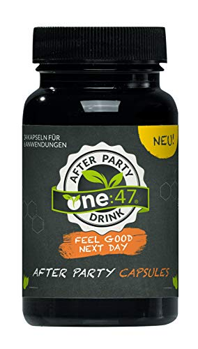 one:47 ® After Party Drink | 24 Kapseln | NEU Einführungspreis | Feel good next day | Natürlich Feiern, natürlich fit | Die originale geschützte one 47 Formel
