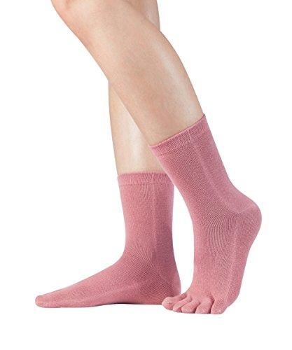Knitido Essentials Midi   Calcetines con dedos en algodón hombre y mujer para uso cotidiano, Talla:39-42, Color:Coral (837)