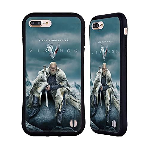 Head Case Designs Licenza Ufficiale Vikings Björn Ironside Stagione 6 Arte Chiave Cover Ibrida Compatibile con Apple iPhone 7 Plus/iPhone 8 Plus