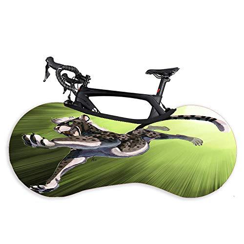Funda de protección elástica para rueda de bicicleta, funda de protección para rueda de bicicleta, bicicleta de montaña, ropa de coche, color rojo