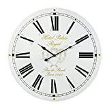 Preis am Stiel Reloj de pared 'Hotel Palais Royal Paris' | Diseño | para salón | Manecillas grandes | Números Romanos | Para la pared | Vintage | Nostalgia | Decoración | Reloj de cocina