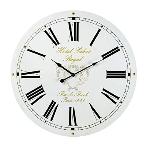 Preis am Stiel Reloj de pared 'Hotel Palais Royal Paris'   Diseño   para salón   Manecillas grandes   Números Romanos   Para la pared   Vintage   Nostalgia   Decoración   Reloj de coc