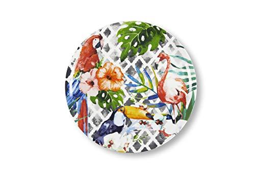 Excelsa Tropical juego de 2platos Pizza, Porcelana