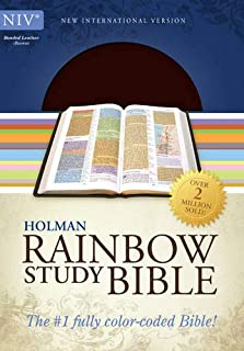 NIV Rainbow Study Bible, Brown Bonded Leather