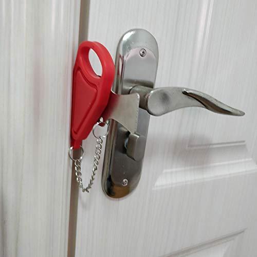 Urmagic Tragbar Hotel-Türschloss selbstdichter Türstopper für Reisen Latch Reisesperre Hotelunterbringung Heimgebrauch Frauen Diebstahlsicherung Selbstverteidigung Sicherheitswerkzeuge