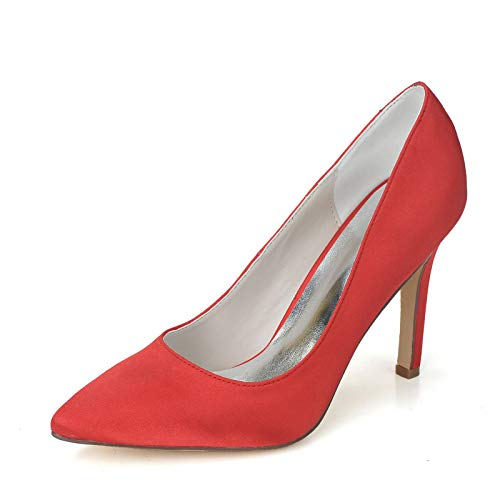 LGYKUMEG Mujer Zapatos de Tacón Zapatos Mujer Tacon Fiesta Sexy Clásico Stilettos High Heels Fiesta Boda para Mujer Tacones Altos 9.5cm,02,EU37