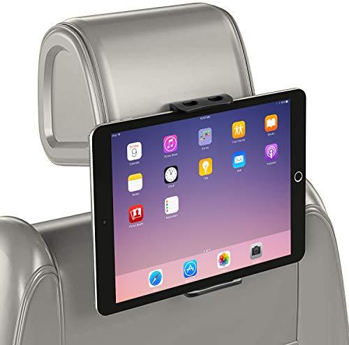 GERETIN Soporte Tablet para Coche Soporte para Tablet Soporte para Reposacabezas de Coche Pulgadas 360ºpara Asiento Trasero Soporte para Tablet,iPad,Samsung Tab,iPhone,Huawei,Otras Tablets(5-13')