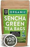 Organic Japanese Sencha Green Tea Bags | 100 Tea Bags | Eco-Conscious Tea Bags in Kraft Bag | by FGO