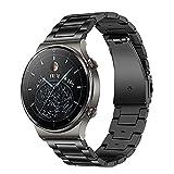 TRUMiRR Sostituzione per AHuawei Watch GT 2 PRO/GT 2 46mm/GT Active/GT 2e Cinturino in Titanio, 22MM Bracciale in Metallo Acciaio al Titanio Cinturino per Orologio Sportivo per Huawei Watch GT 2 PRO