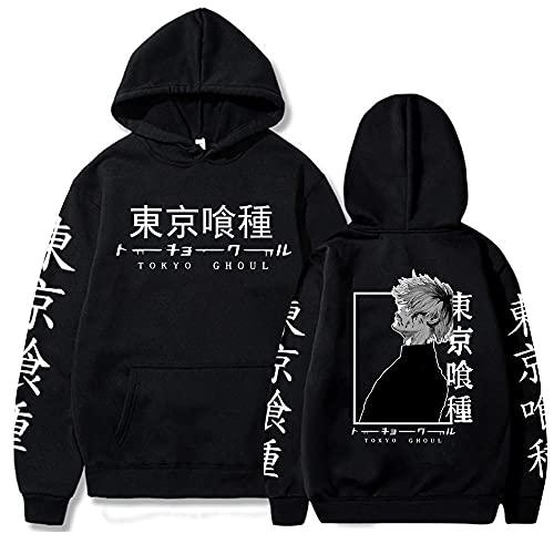 Tokyo Ghoul Anime Cool Kaneki Ken Pullovers Hoodie Unisex Hip Hop Sweatshirt Teens Clothing Black