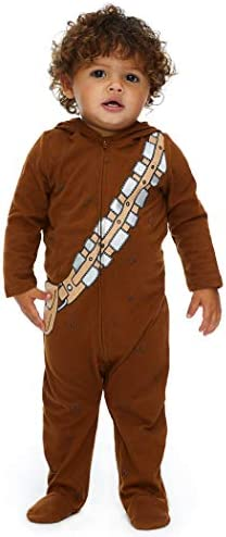 Star Wars Chewbacca Baby Boys Costume Zip Up Footies with Hood 18 Months product image