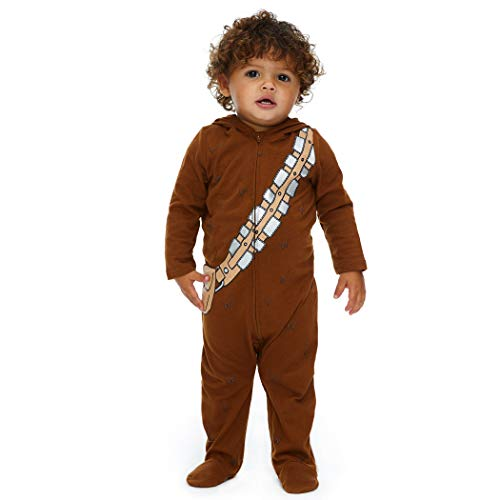 Star Wars Chewbacca Baby Boys Costume Zip-Up Footies with Hood 12 Months