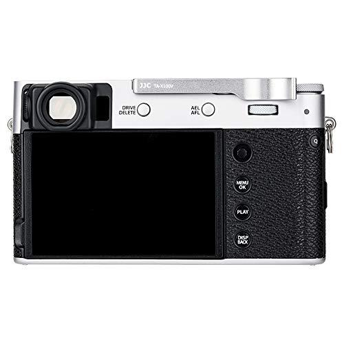 JJC Hot Shoe - Empuñadura para cámara Fujifilm Fuji X100V, X100F y X-E3, agarre para pulgar hacia arriba, mejor equilibrio y comodidad de agarre, color plateado