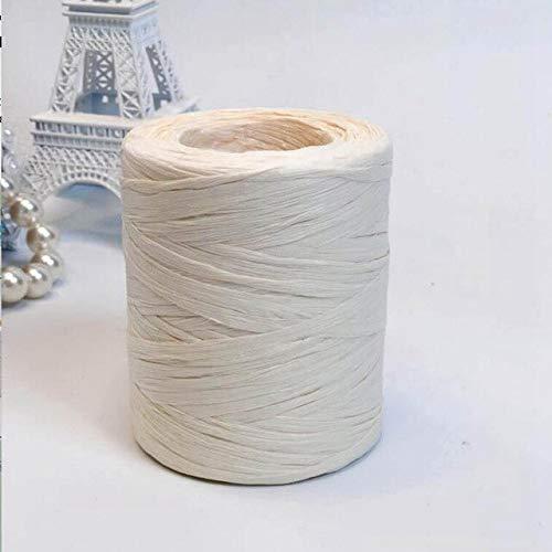 Hilados de paja de rafia de 200 m de mano de ganchillo para DIY sombreros hechos a mano bolsos cojines embalaje material de embalaje
