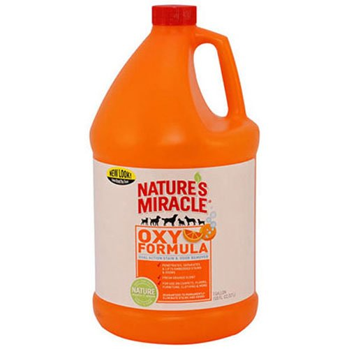 Nature's Miracle Dog Stain And Odor Remover, Oxy Formula, With Fresh Orange Scent, 1 Gallon