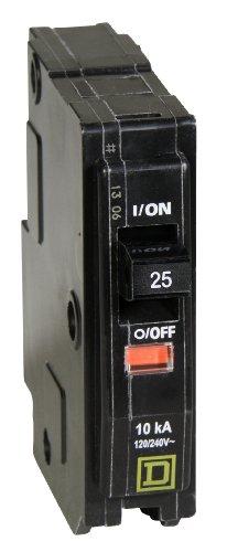 Square D by Schneider Electric QO125CP QO 25-Amp Single-Pole Circuit Breaker