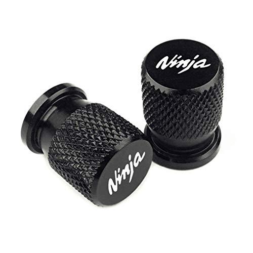 2 StüCk Aluminium-Ventilkappen für KAWASAKI Ninja 400 650 300 250 250R Ninja H2R ZX14R ZX10R ZX6R Z1000SX, Reifenventil-Staubkappen Mit Dichtung, Ventilkappen Abdeckung - Autoventil Metall Kappen