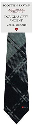 I Luv Ltd Garçon Tout Cravate en Laine Tissé et Fabriqué en Ecosse à Douglas Grey Ancient Tartan