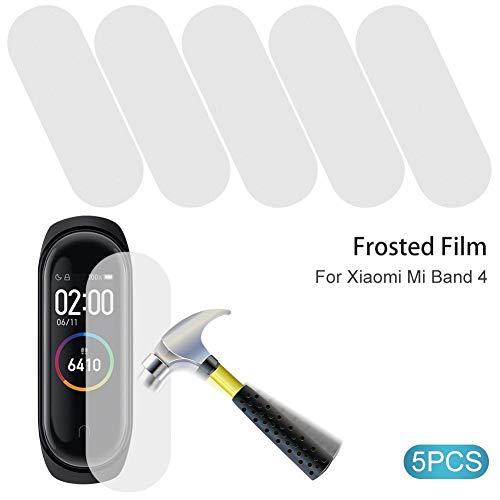 Belukies Paquete De 5 Películas Protectoras De Pantalla, Película Protectora Anti-explosure Ultrafina Mate Helada para Xiaomi Mi Band 4