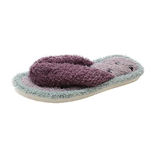 Zapatillas de Estar por Casa para Hombre y Mujer,Zapatillas de Felpa de Las Chanclas caseras del...