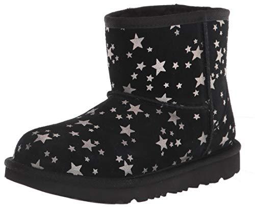 UGG Kids' Classic Mini Ii Stars Boot, Black, Size 4