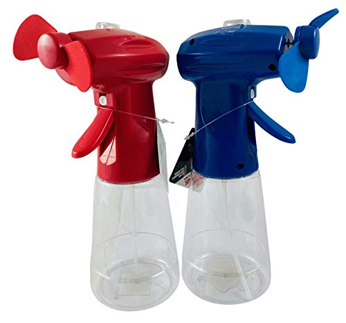 Misting Spray Bottle Fan Personal Cooling Mist Portable Handheld Humidifier, Set of 2