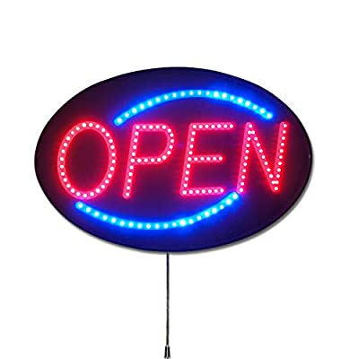 """The Most Popular Open Sign in The World! - Pro-Lite Ultra Bright LED Open Business Sign with 10 Year Warranty on LEDs, 13"""" H x 21"""" W, Multiple Flashing Vegas & Animation Effects, Speed Control"""